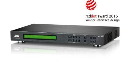VM5404D 4 x 4 DVI Matrix Switch with Scaler