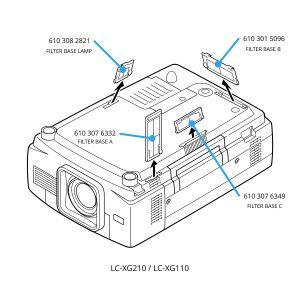 LC-XG210 LC-XG110 filters